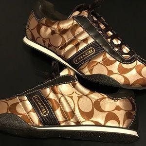 COACH Sneakers Women size 7 brown & tan Like New